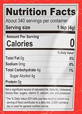 lakanto monkfruit sweetener nutrition facts