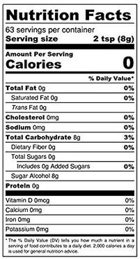 sukrin gold brown sugar nutrition facts